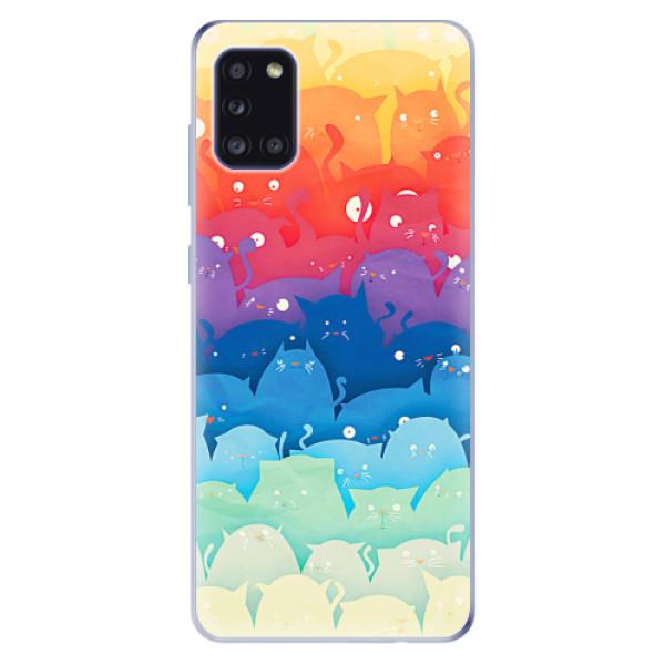 Odolné silikonové pouzdro iSaprio - Cats World - Samsung Galaxy A31