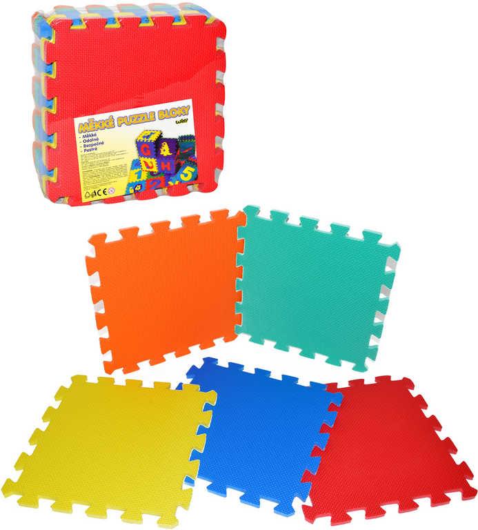 Měkké bloky 30x30cm dětské pěnové soft puzzle set 10ks koberec na zem