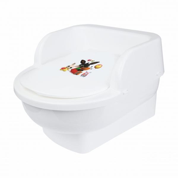 MALTEX Nočník, přenosná dětská toaleta BING - bílý
