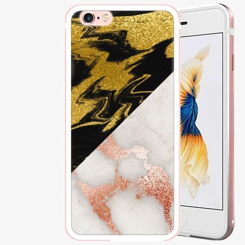 Plastový kryt iSaprio - Shining Marble - iPhone 6 Plus/6S Plus - Rose Gold