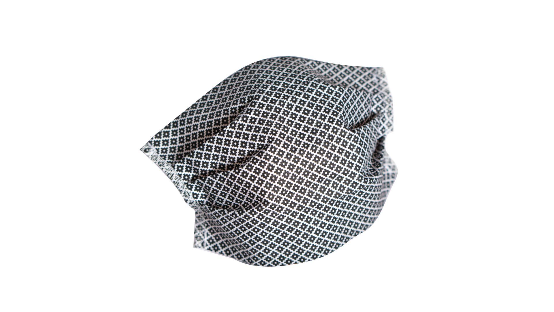 4CARS Dvouvrstvé ochranné bavlněné rouško černé s gumičkou 1ks - větší