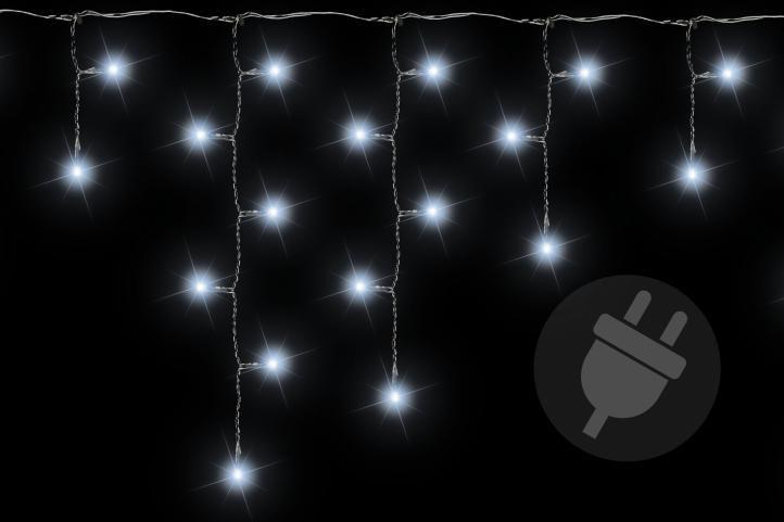 Vánoční světelný déšť 72 LED studená bílá - 2,7 m