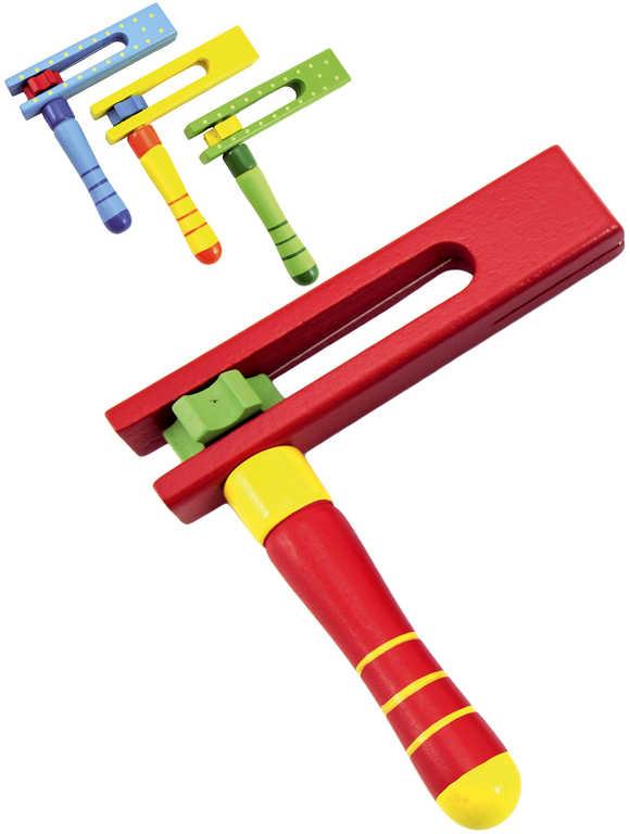 DŘEVO Baby řehtačka 12 cm - 4 barvy