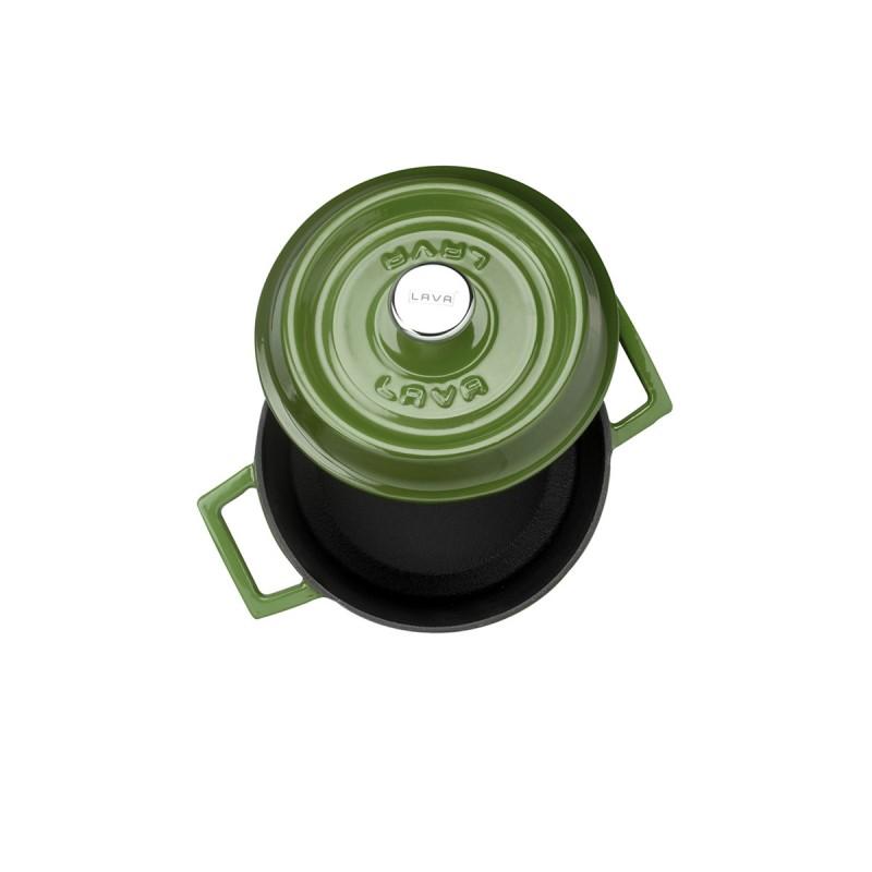 Litinový hrnec kulatý 14cm - zelený