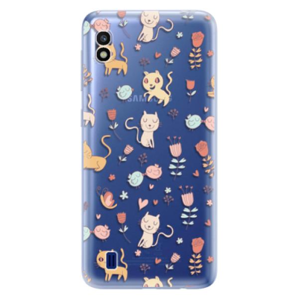 Odolné silikonové pouzdro iSaprio - Cat pattern 02 - Samsung Galaxy A10