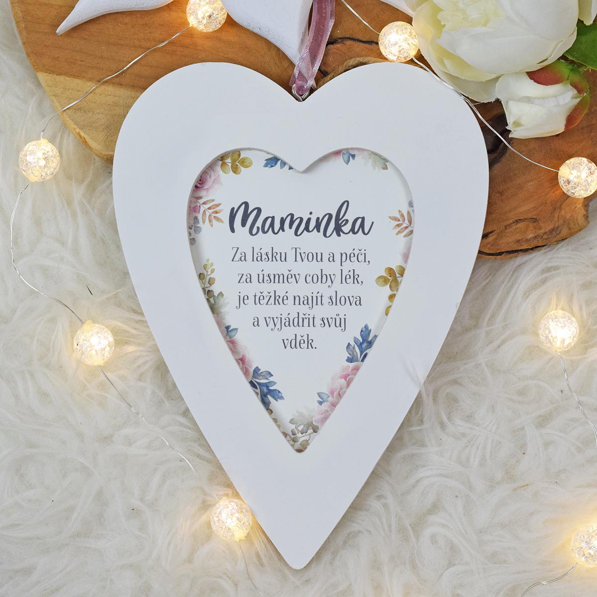 Květované srdce - Maminka