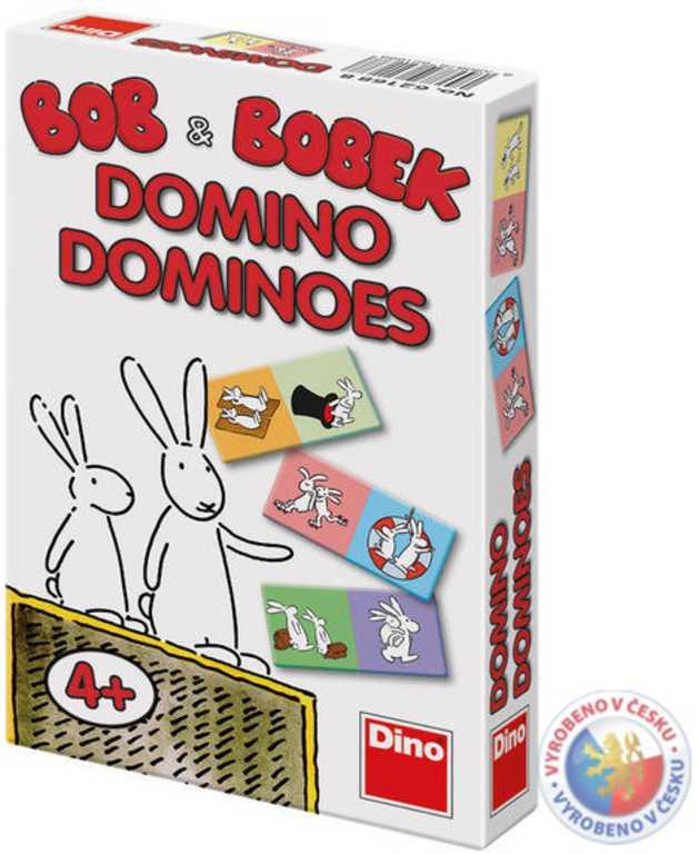 DINO Domino Bob a Bobek 28 kartiček kapesní *SPOLEČENSKÉ HRY*