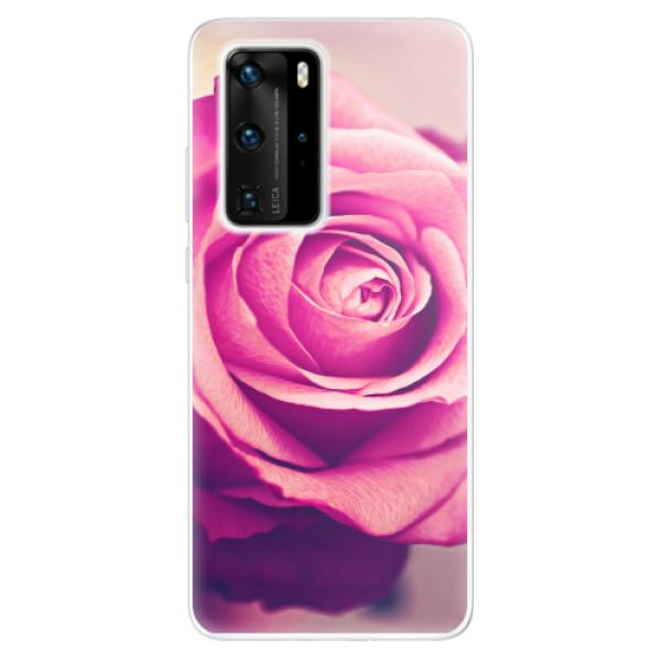 Odolné silikonové pouzdro iSaprio - Pink Rose - Huawei P40 Pro