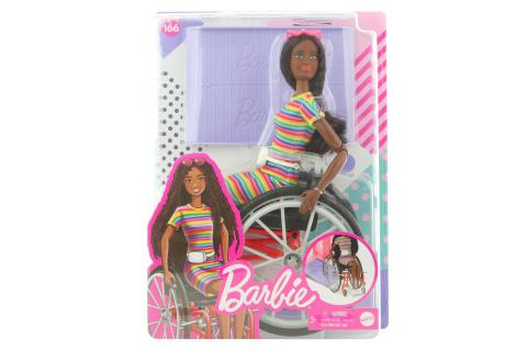 Barbie Modelka na invalidním vozíku - černoška GRB94