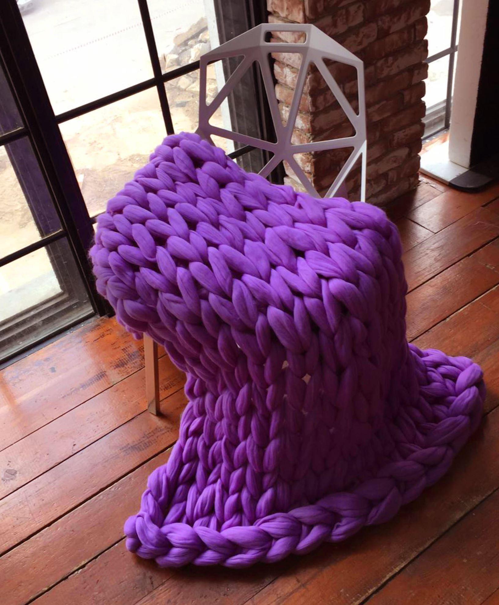 Příze pro ruční pletení - fialová 4 ks