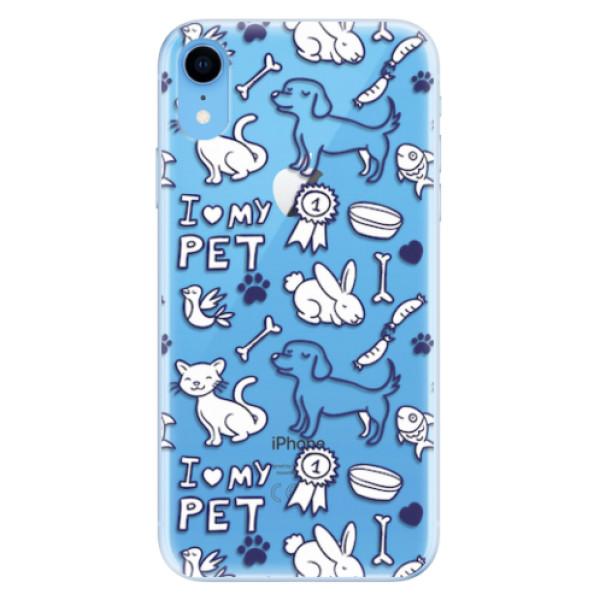 Odolné silikonové pouzdro iSaprio - Love my pets - iPhone XR