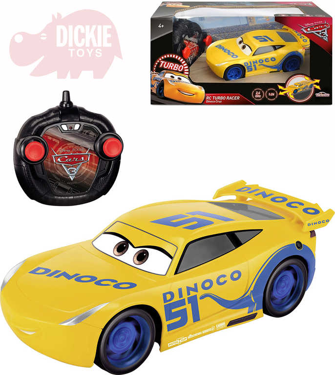 DICKIE RC Auto Cruz Ramirezová 1:24 Auta (Cars) na vysílačku 2,4GHz
