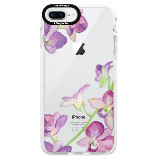 Silikonové pouzdro Bumper iSaprio - Purple Orchid - iPhone 8 Plus