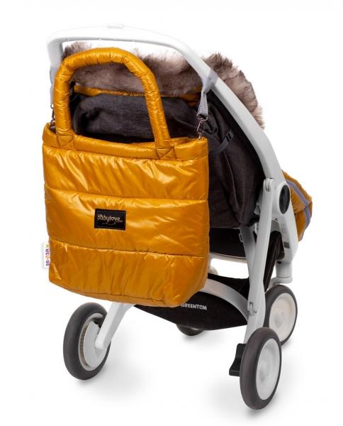 Baby Nellys taška na kočárek STYLE, hořčice