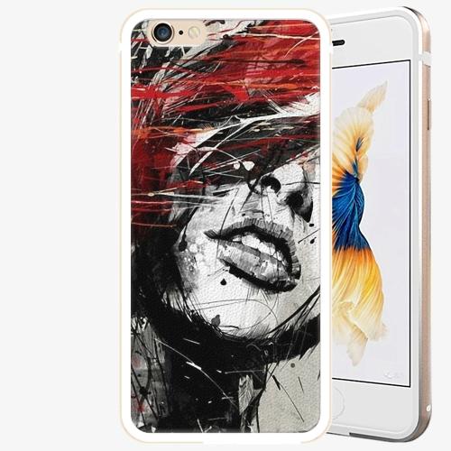 Plastový kryt iSaprio - Sketch Face - iPhone 6/6S - Gold