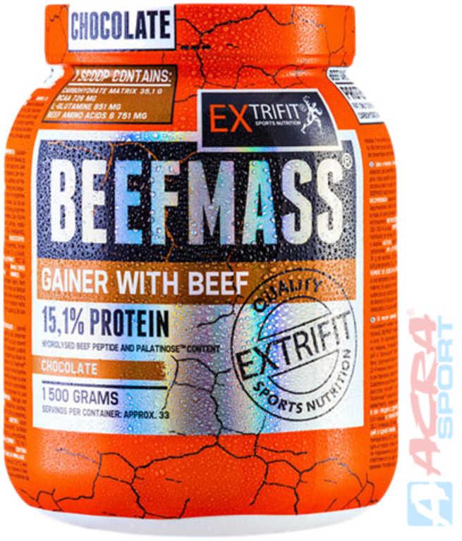 ACRA Extrifit BeefMass 1500g chocolate SV23 výživový doplněk pro sportovce