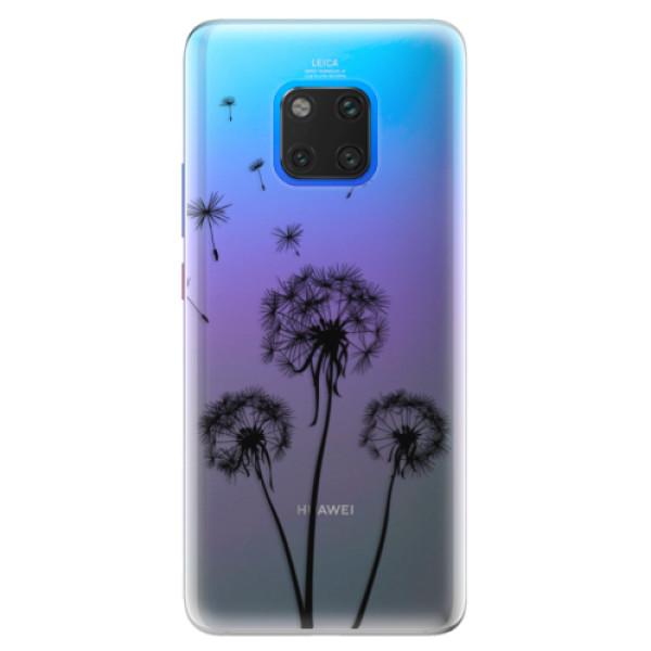 Silikonové pouzdro iSaprio - Three Dandelions - black - Huawei Mate 20 Pro