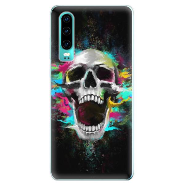 Odolné silikonové pouzdro iSaprio - Skull in Colors - Huawei P30