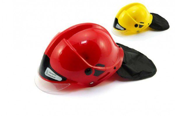 Přilba helma hasiči plast 27x16cm asst 2 barvy