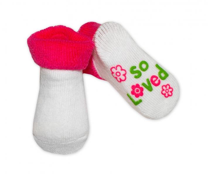 Kojenecké ponožky Risocks různé motivy - tm. růžová - 0/6 měsíců