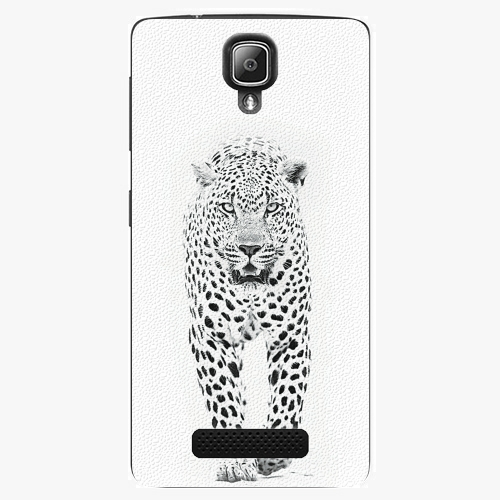 Plastový kryt iSaprio - White Jaguar - Lenovo A1000