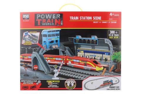 Vlaková sada s nádražím