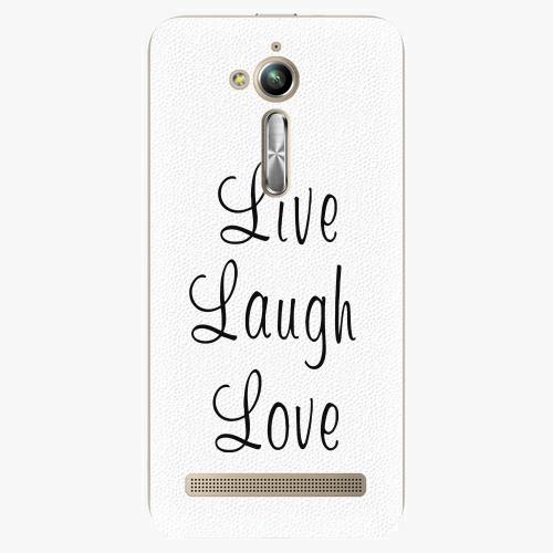 Plastový kryt iSaprio - Live Laugh Love - Asus ZenFone Go ZB500KL