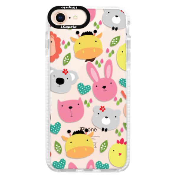 Silikonové pouzdro Bumper iSaprio - Animals 01 - iPhone 8