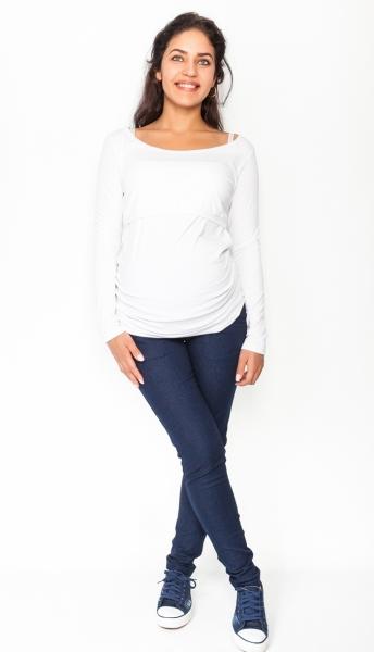 Be MaaMaa Těhotenské kalhoty/jeans Rosa