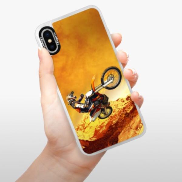 Neonové pouzdro Pink iSaprio - Motocross - iPhone XS
