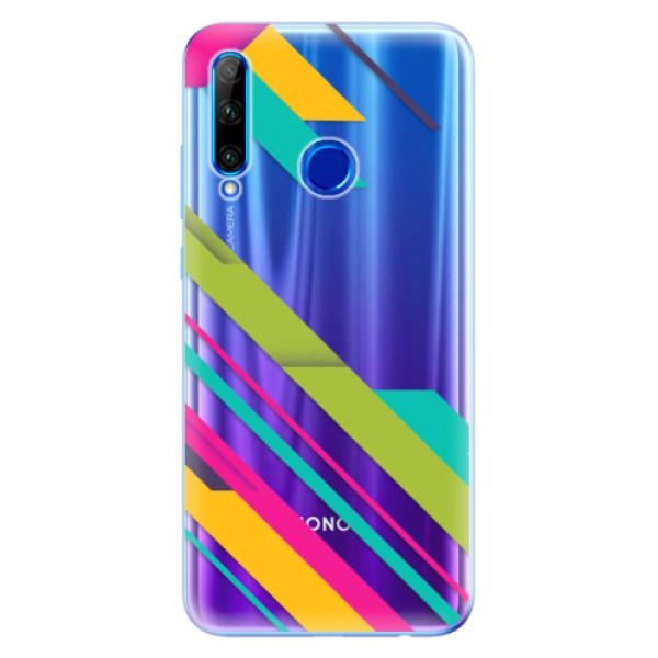 Odolné silikonové pouzdro iSaprio - Color Stripes 03 - Huawei Honor 20 Lite