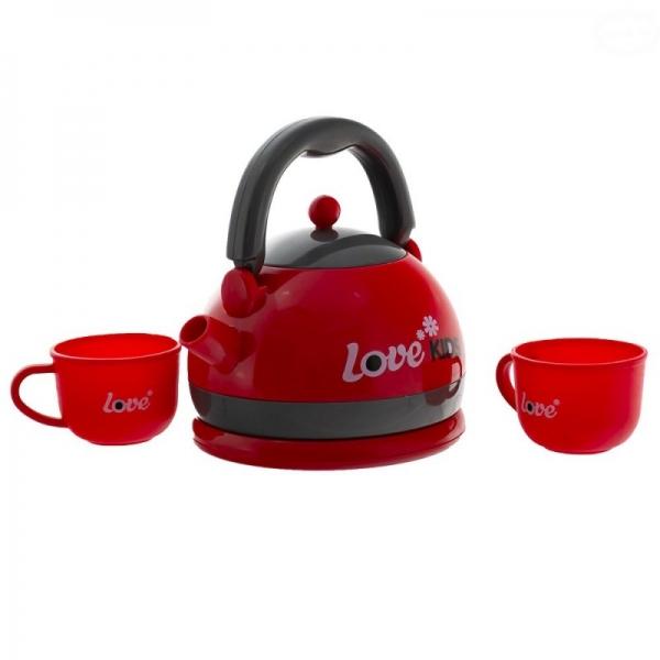 Dětský čajový set - červený