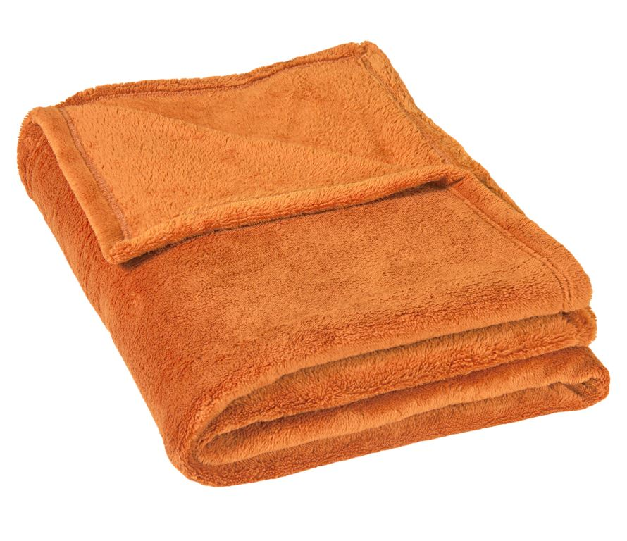 Micro deka jednolůžko 150x200cm oranžová 300g/m2