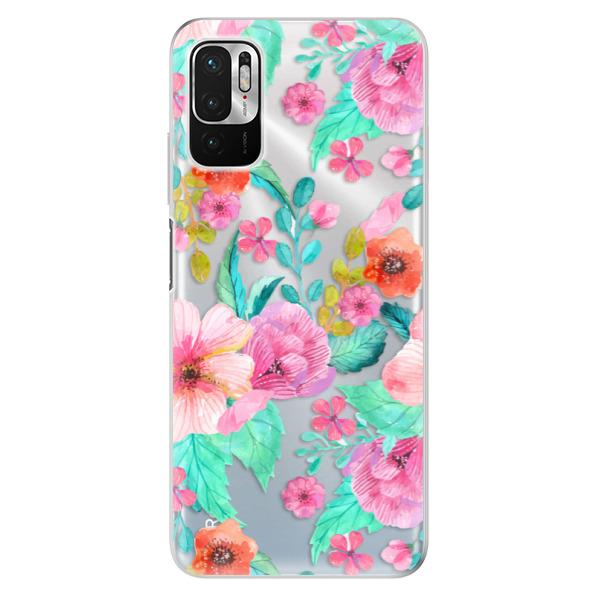 Odolné silikonové pouzdro iSaprio - Flower Pattern 01 - Xiaomi Redmi Note 10 5G