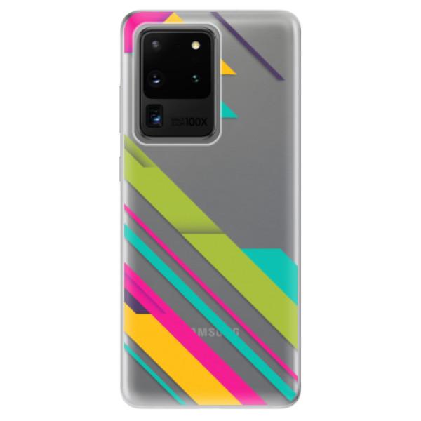Odolné silikonové pouzdro iSaprio - Color Stripes 03 - Samsung Galaxy S20 Ultra