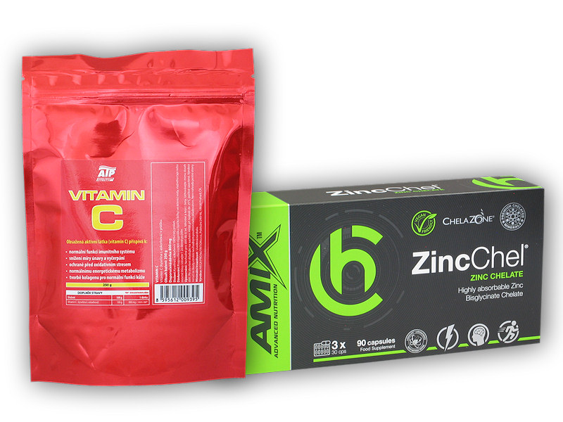 ZincChel 90 Vcps + Vitamin C 250g