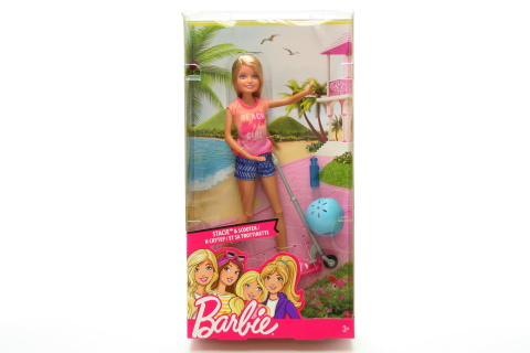 Barbie Stacie a skútr DVX57