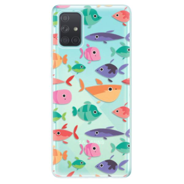 Odolné silikonové pouzdro iSaprio - Fish pattern 01 - Samsung Galaxy A71