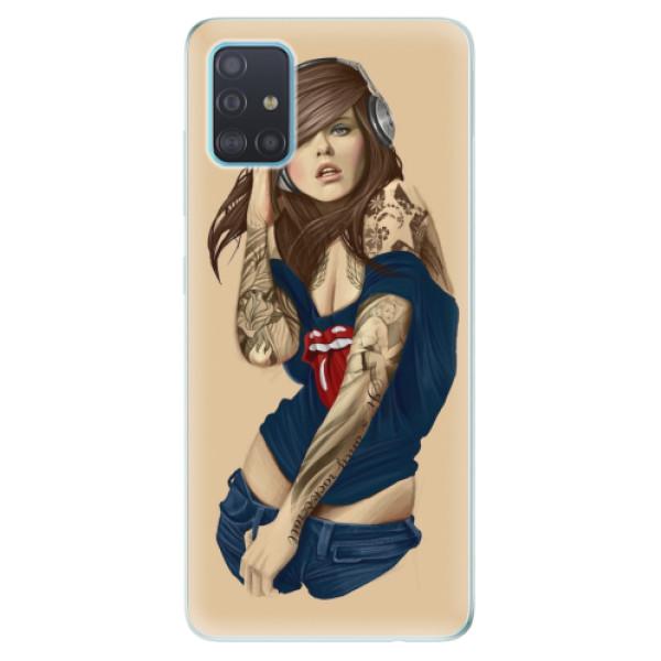 Odolné silikonové pouzdro iSaprio - Girl 03 - Samsung Galaxy A51