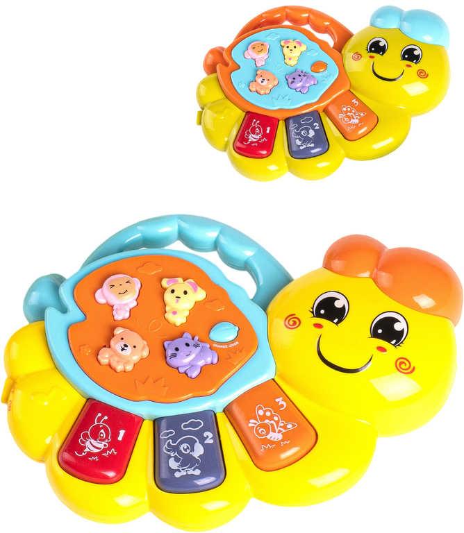 Baby pianko červík dětské klávesy na baterie Světlo Zvuk 2 barvy