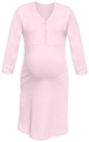 JOŽÁNEK Těhotenská, kojící noční košile PAVLA 3/4 - sv. růžová - L/XL