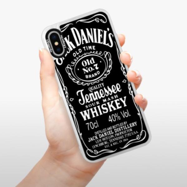 Neonové pouzdro Pink iSaprio - Jack Daniels - iPhone X