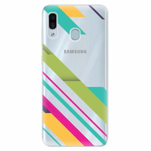 Silikonové pouzdro iSaprio - Color Stripes 03 - Samsung Galaxy A30