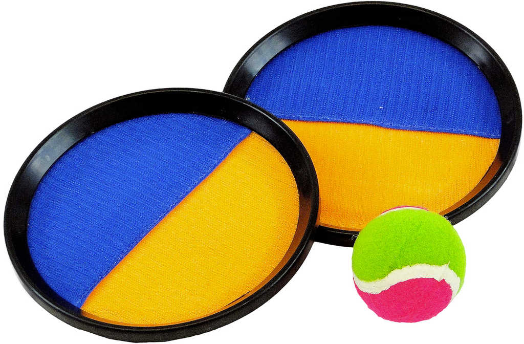 ACRA Hra Catch ball set s 2 talíře s míčkem na suchý zip 19cm