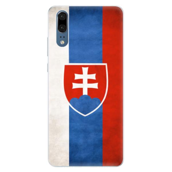 Silikonové pouzdro iSaprio - Slovakia Flag - Huawei P20