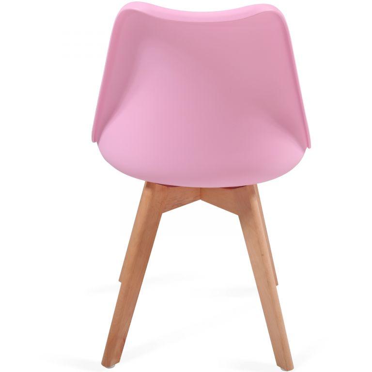MIADOMODO Sada jídelních židlí, růžová, 2 kusy