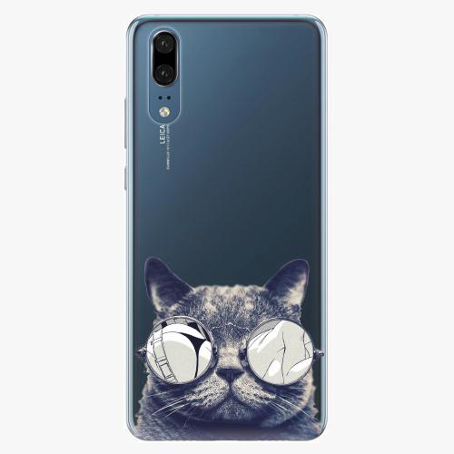 Silikonové pouzdro iSaprio - Crazy Cat 01 - Huawei P20