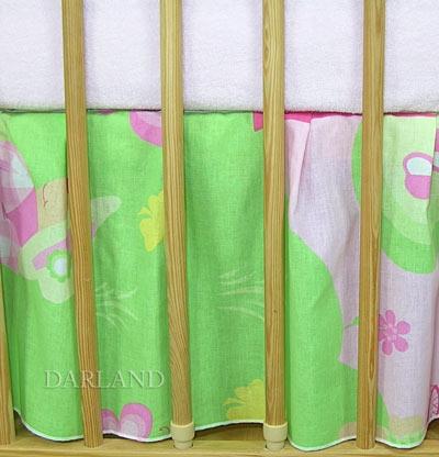 VÝPRODEJ Krásný volánek pod matraci - Motýlek růžový - 120x60