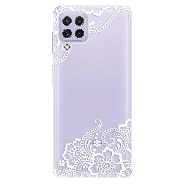 Odolné silikonové pouzdro iSaprio - White Lace 02 - Samsung Galaxy A22