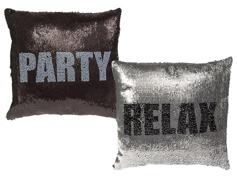 Kouzelný flitrový polštář – PARTY / RELAX